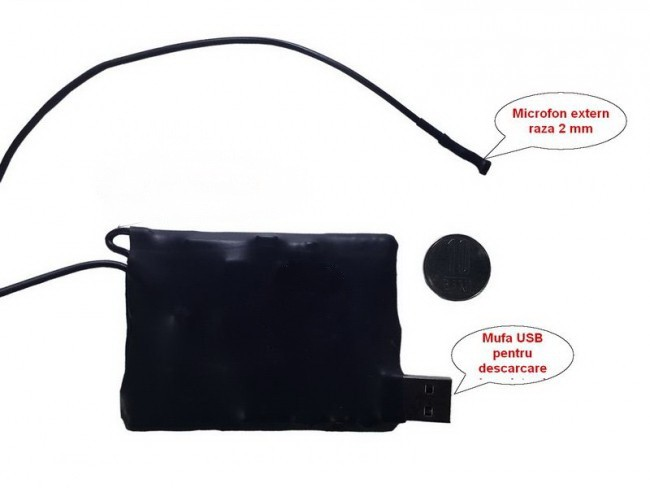 Mini modul spy reportofon 2mm cu activare la voce