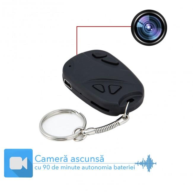 Microcamera spion  8Gb mascata in breloc - telecomanda auto - top comandate