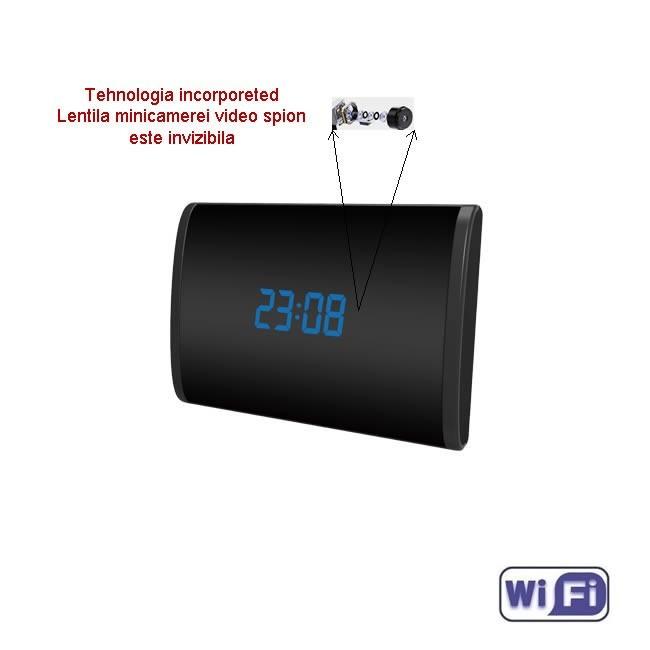 Microcamera Ip wireless ascunsa in ceas de birou
