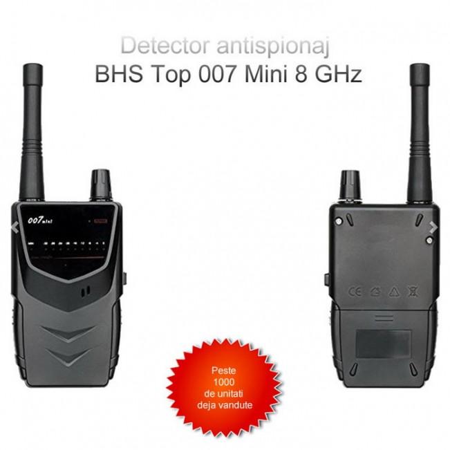 Detector profesional pentru microfoane si camera spion ascunse -  Model BHS Top 007 Mini – 8 Ghz