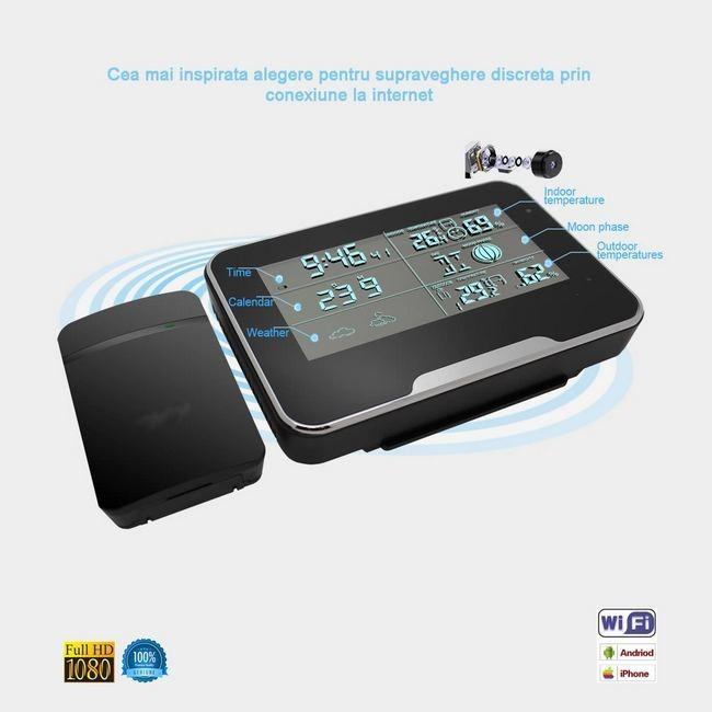 Camera ip pentru spionaj discret Wi-Fi ,Full Hd , Ascunsa in Termohigrometru cu Senzor de Miscare