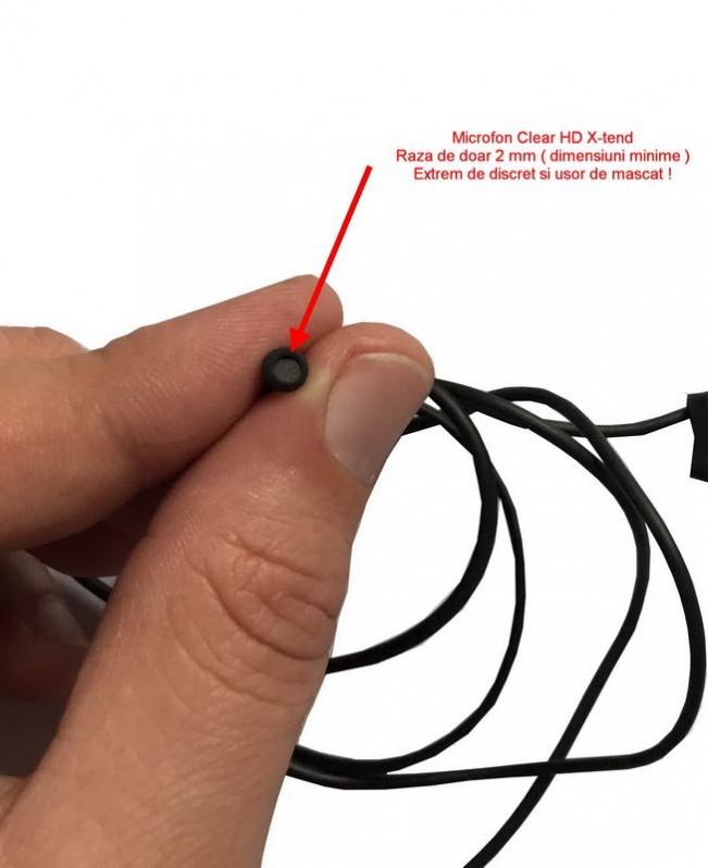 Dispozitiv pentru localizare GPS + Microfon spion Profesional X-tend 2 mm