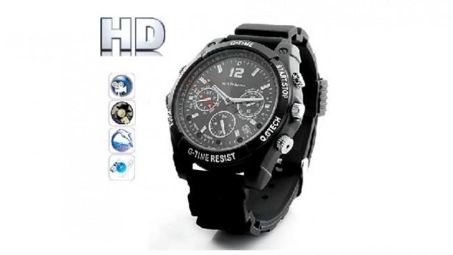 ceas de mana camera spionaj  cu night vision HD ELEGANT