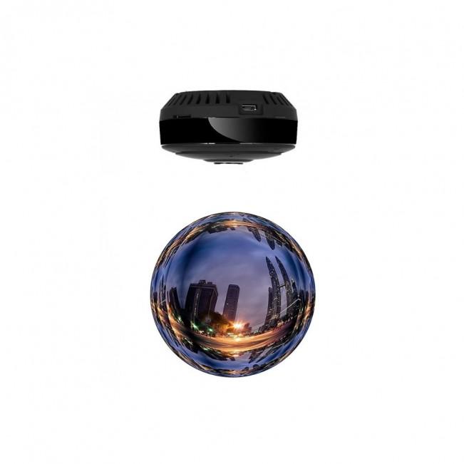 LOOP-K360 - Mini Modul Camera Video 360 de Grade WiFi IP, HD, Unghi Lentila 180°, Filmare pe Timp de Noapte si Senzor de Miscare