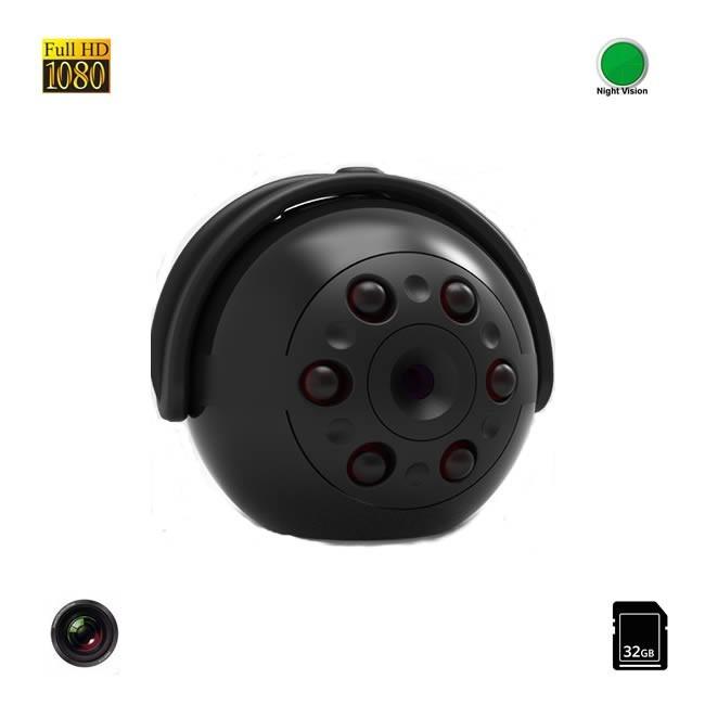 Mini Camera Video Spy 32 GB cu Autonomie de 100 minute , Nightvision, Full HD 1080P, Detectie Miscare,  MCSQ9