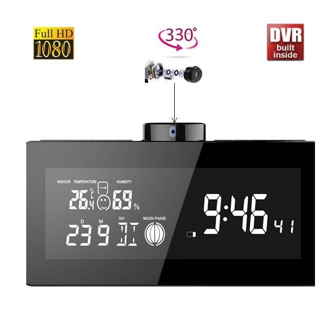 Camera Video pentru Spionaj Integrata in Statie Meteo, DVR, Full Hd, Senzor de Miscare, 330 de Grade