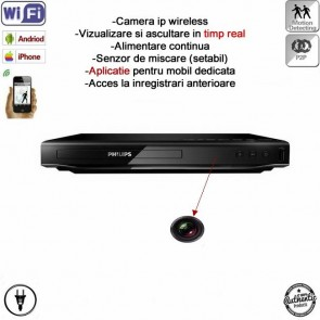 DVD player cu camera ip wireless spionaj + DVR ,P2P , wi-fi ascunsa