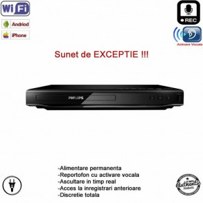 Dvd Player cu mini modul microfon cu inregistrare spy Wi-Fi