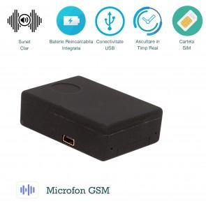 Microfon spion gsm spy cu activare vocala  XSMG108 - cel mai vandut microfon de spionaj