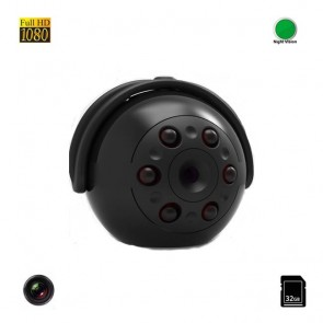Mini Camera Video Spy 32 GB cu Autonomie de 100 minute , Nightvision, Full HD 1080P, Detectie Miscare,  MCSQ9
