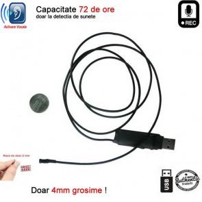 Modul spionaj 2mm -  mini reportofon X-tend 72 de ore cu activare vocala