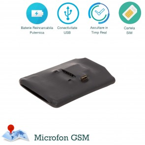 Microfon Gsm PowerXl spy cu 2 microfoane si activare vocala - 20 ore de ascultare - Profesional