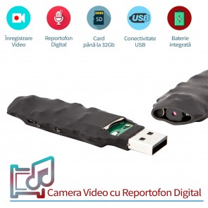 Camera spy modul 5ore - microreportofon 22 de ore, 0,8mm - SPYMODPROF225