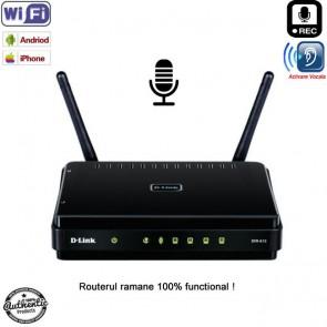 Reportofon pentru spionaj de la distanta cu detectie voce + Wi-Fi + ascultare live pe internet