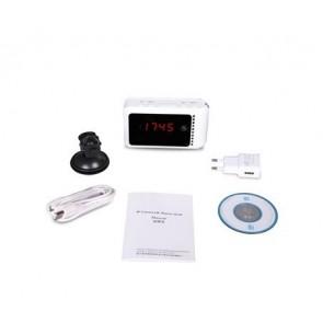 Camera ip wireless spy ascunsa in ceas de birou cu telecomanda, memorie pna la 32 GB, detectie miscare, night vision invizibil